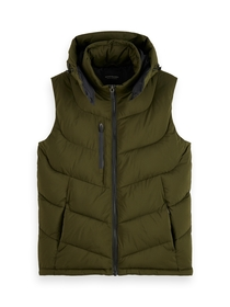 Quilted hooded bodywarmer with Repr