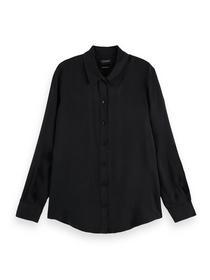Regular-fit button-up Cupro shirt