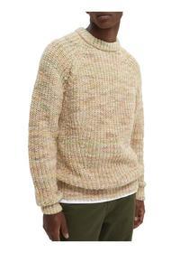 Chunky multicolour rib-knit pullove