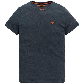 Short sleeve v-neck melange inject