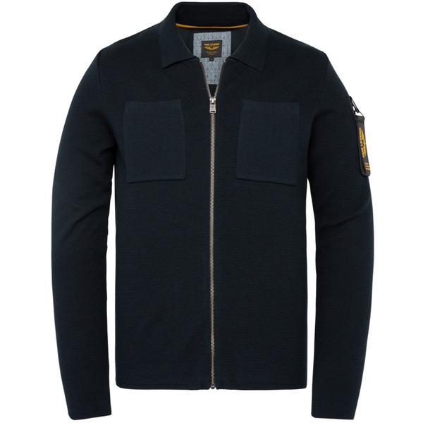 Zip jacket cotton knit