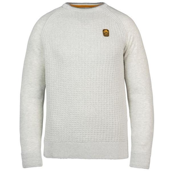 R Neck Knit Sweat Combination