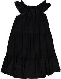 Dress tappered & elastic neck