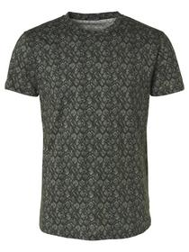 All Over Printed Melange Crewneck T-shirt