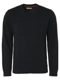 Pullover V-Neck 2 Color Twisted Jacquard