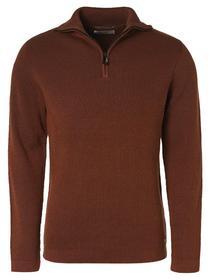 Pullover High Neck Half Zip