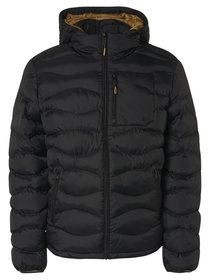 Jacket Hooded Padded Wavy Quilted