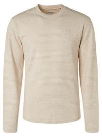 T-Shirt Long Sleeve Crewneck Melange Jacquard