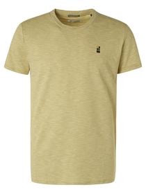 T-Shirt Crewneck Slub Yarn Dyed Stripe