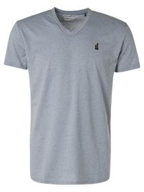 T-Shirt V-neck 3 Coloured Melange + Neps