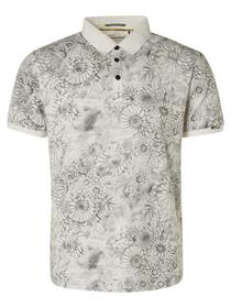 Polo Allover Printed Garment Dyed Stretch