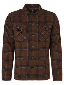 Overshirt Button Closure Check With Wool