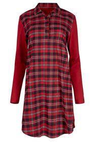 Da. Sleepshirt lg. A. - 5450/red check