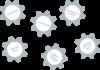 Zahnräder hängen unverknüpft im leeren Raum. Sie sind mit den Begriffen Lernplattform, Lernumgebung, individualisiertes Schulbuch, enhanced eBook, digital-multimediales Schulbuch und  gedrucktes, statisches Buch beschriftet.