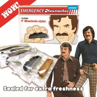 Notfall Schnurrbärte Schnurrbart zum Aufkleben Oberlippenbart Bart Set 6 Stück