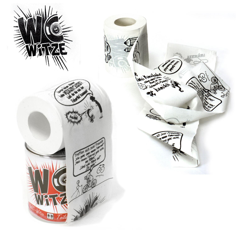 6 Rollen Toilettenpapier Kackhaufen 2 Motive Partyspaß Klopapier