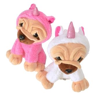 Kuscheltier mit Quietsch-Funktion Stofftier Plüschtier Hase Kuh Katze Schwein