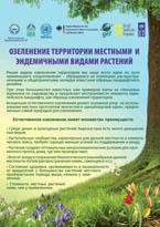 Озеленение территории местными и эндемичными видами растений