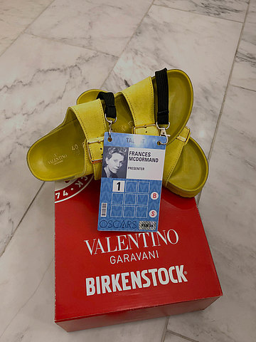 17c97f05020 PIERPAOLO PICCIOLI AND FRANCES MCDORMAND CREATE BIRKENSTOCK ARIZONA SANDAL  FOR THE 2019 ACADEMY AWARDS