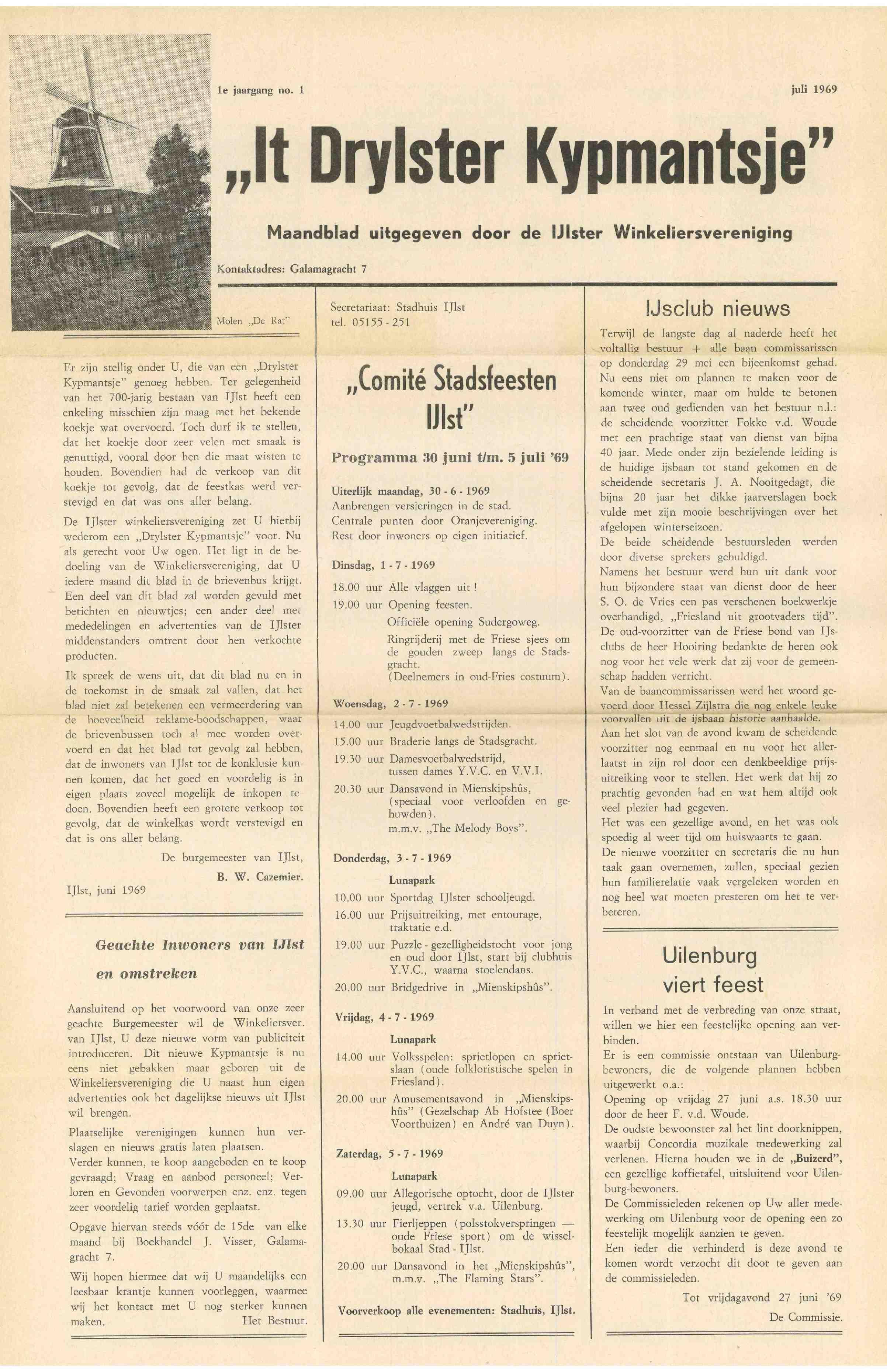 Cover editie juli 1969