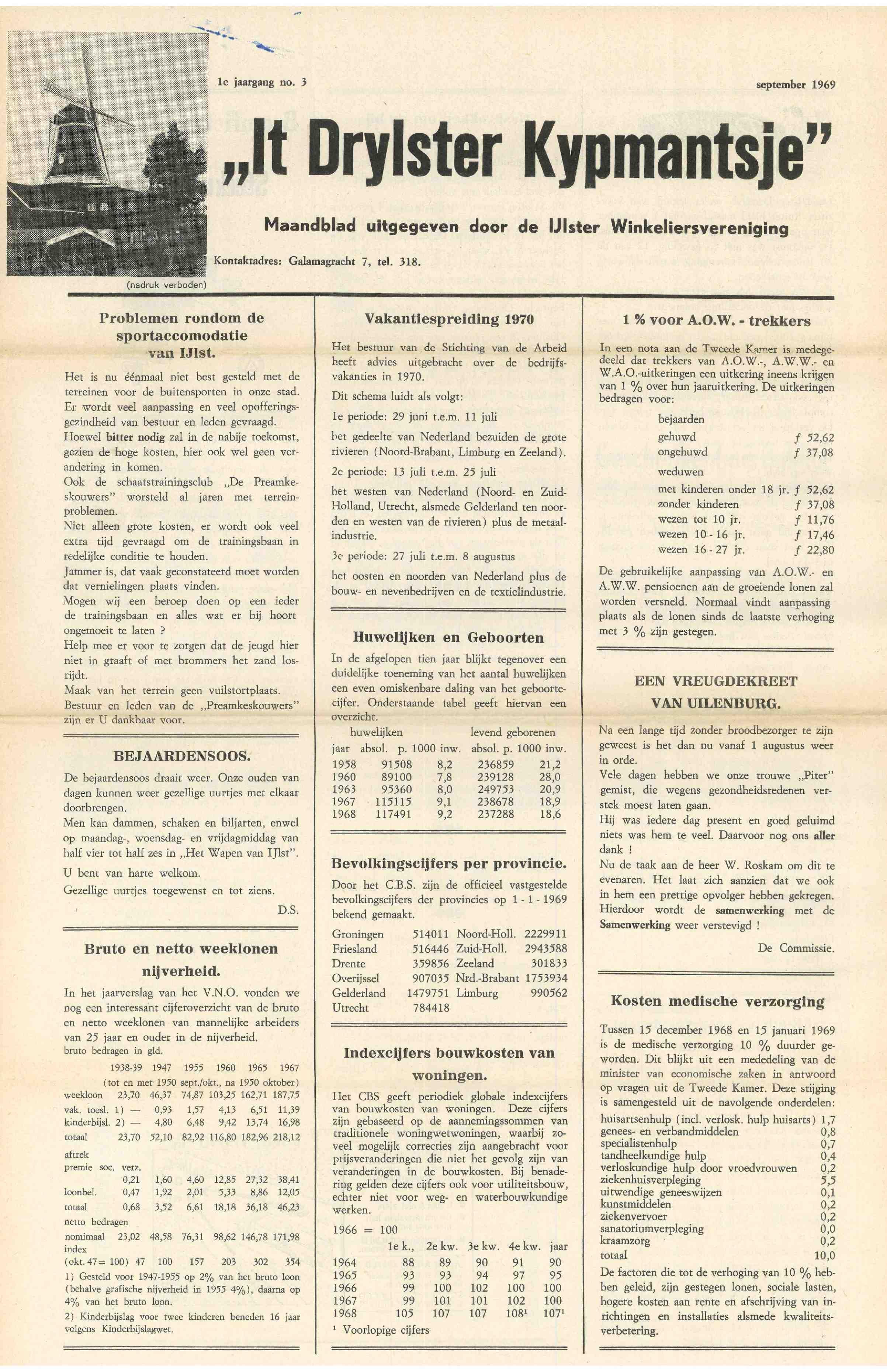 Cover editie september 1969