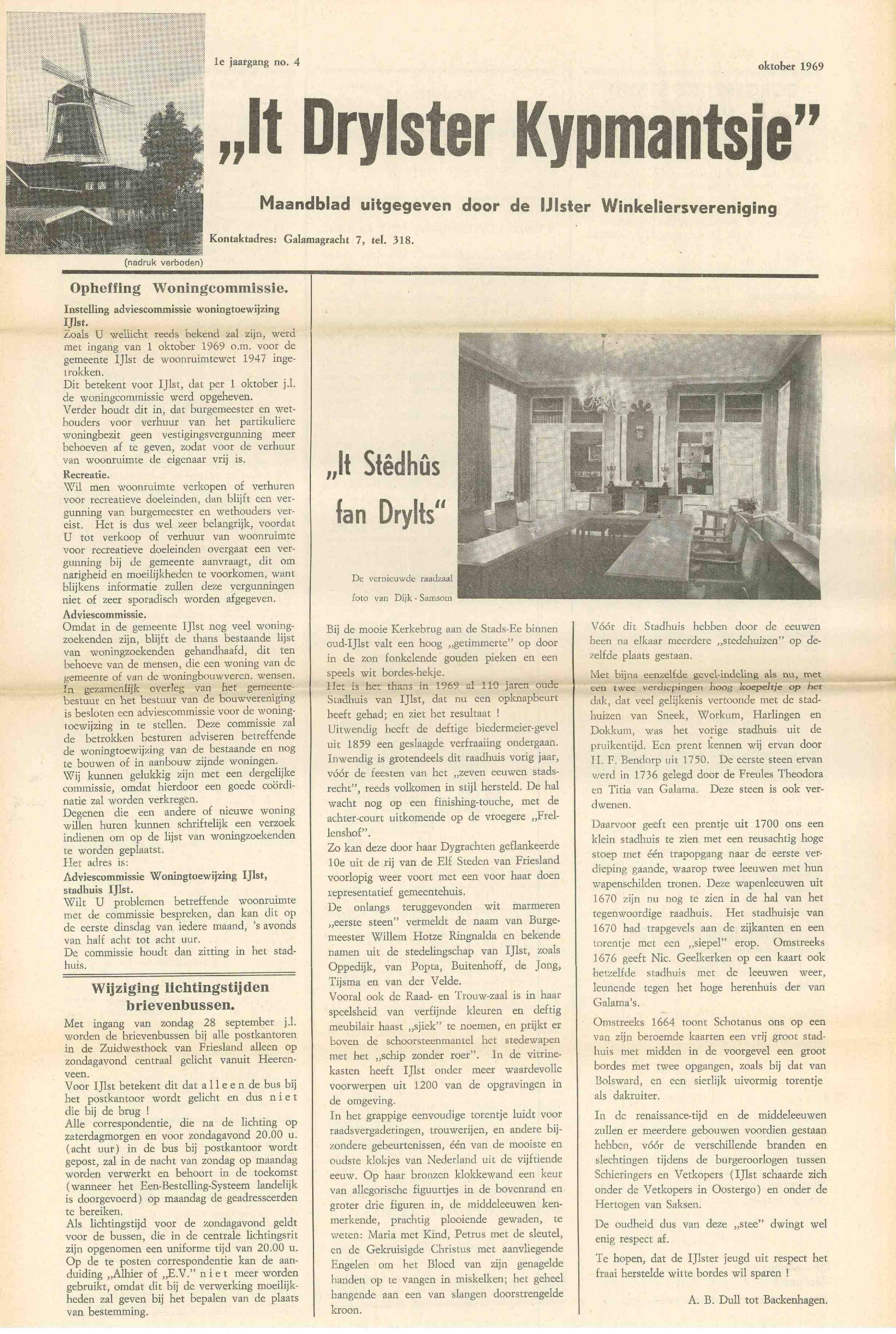 Cover editie oktober 1969