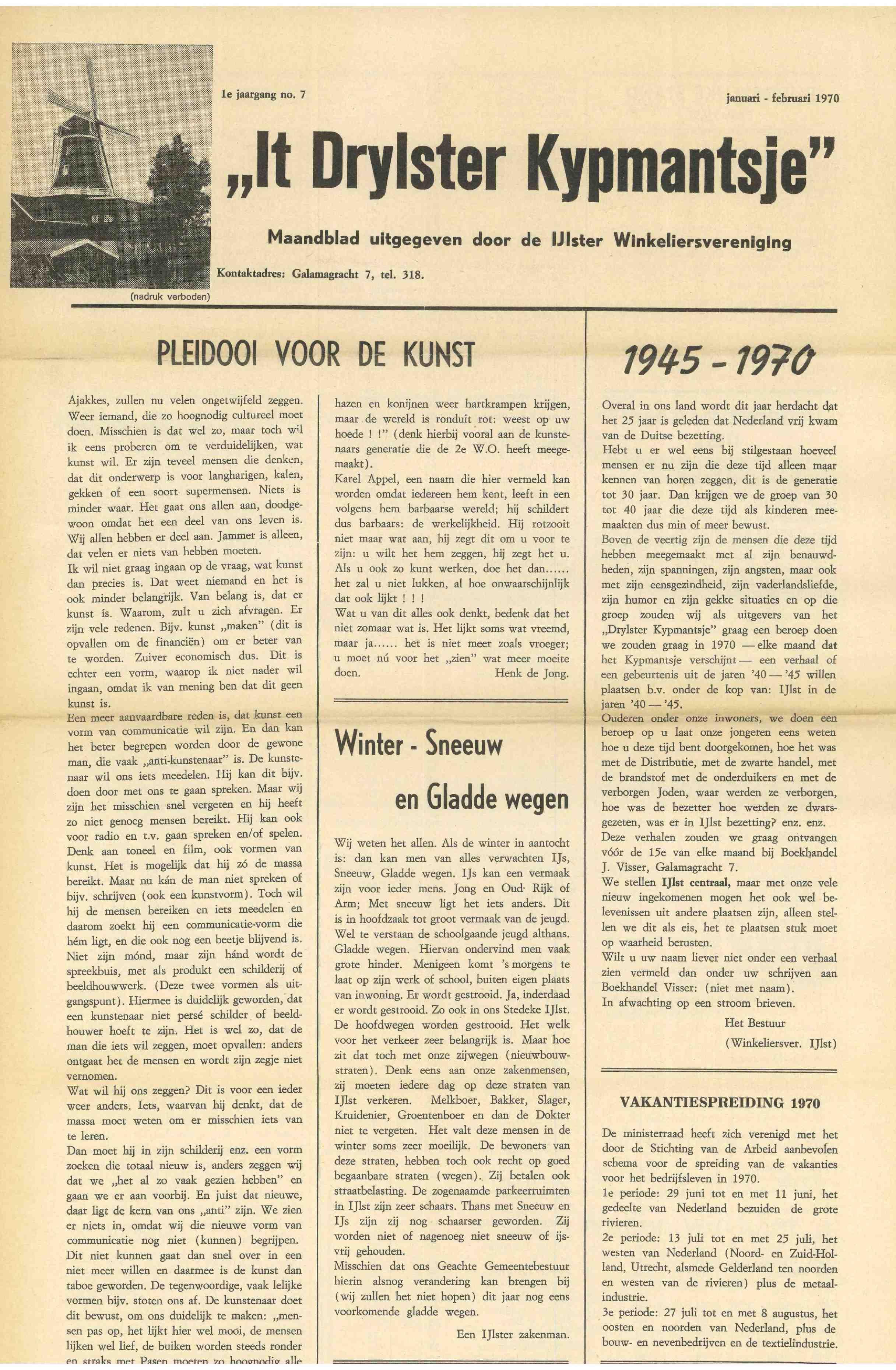 Cover editie januari 1970