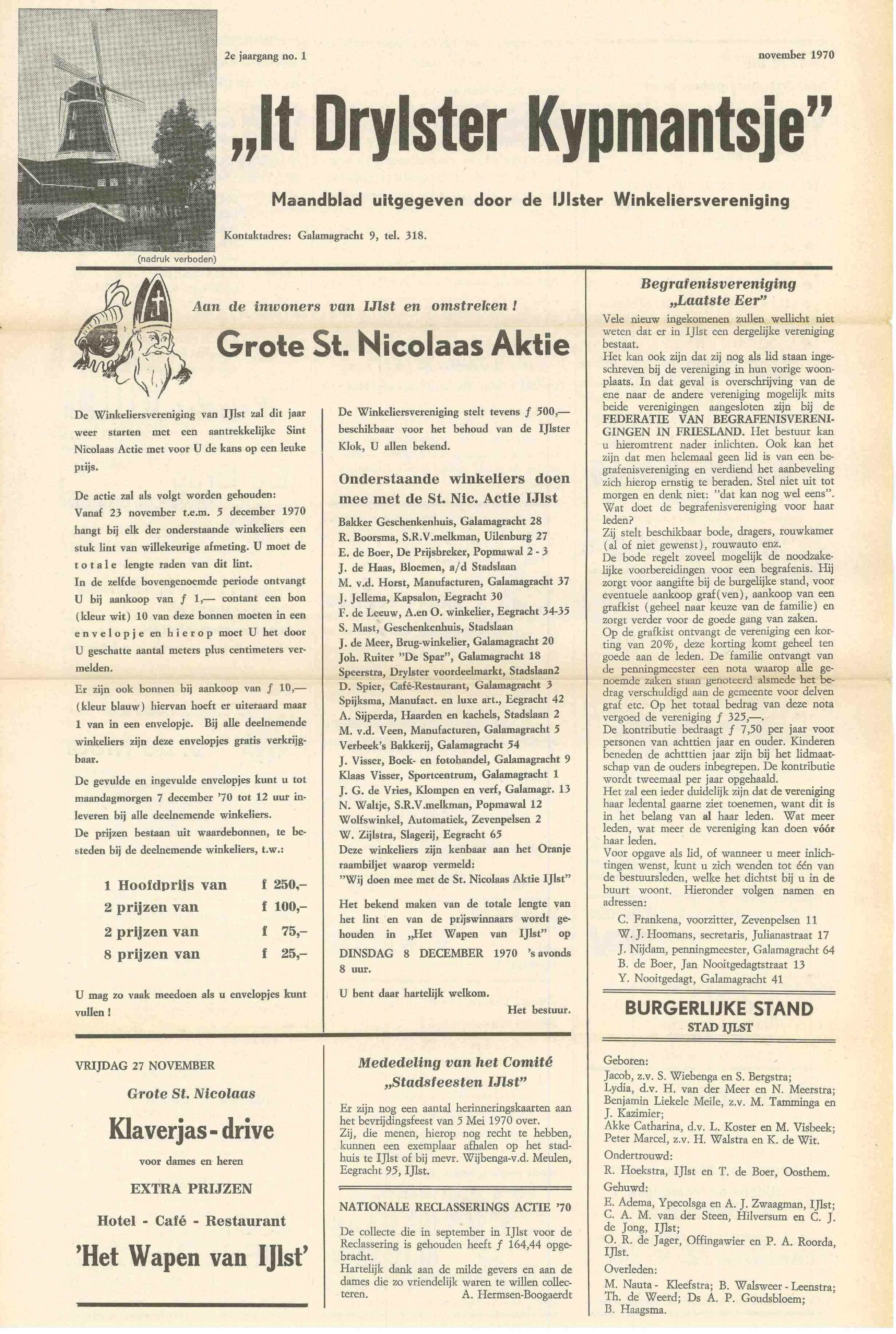 Cover editie november 1970