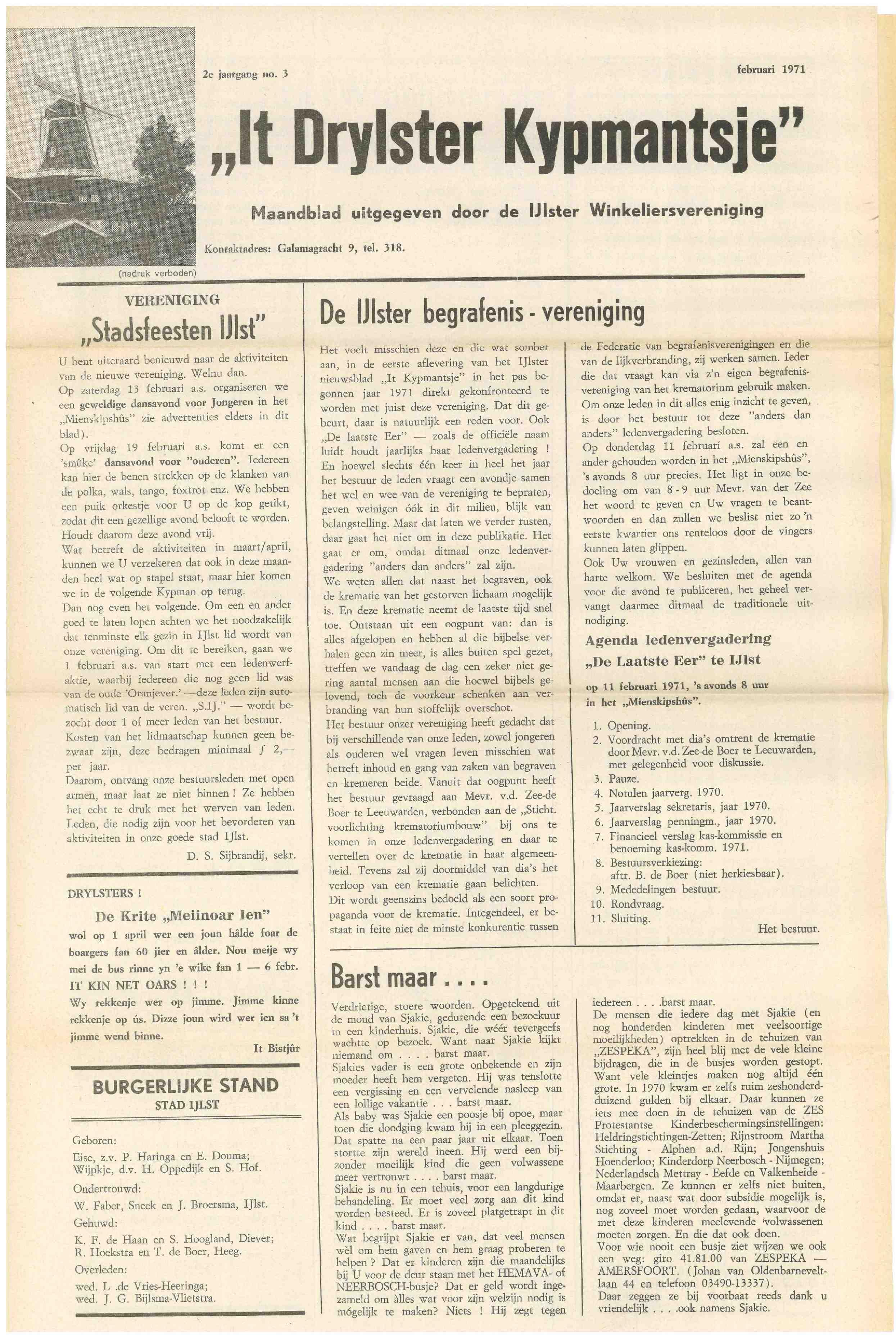 Cover editie februari 1971