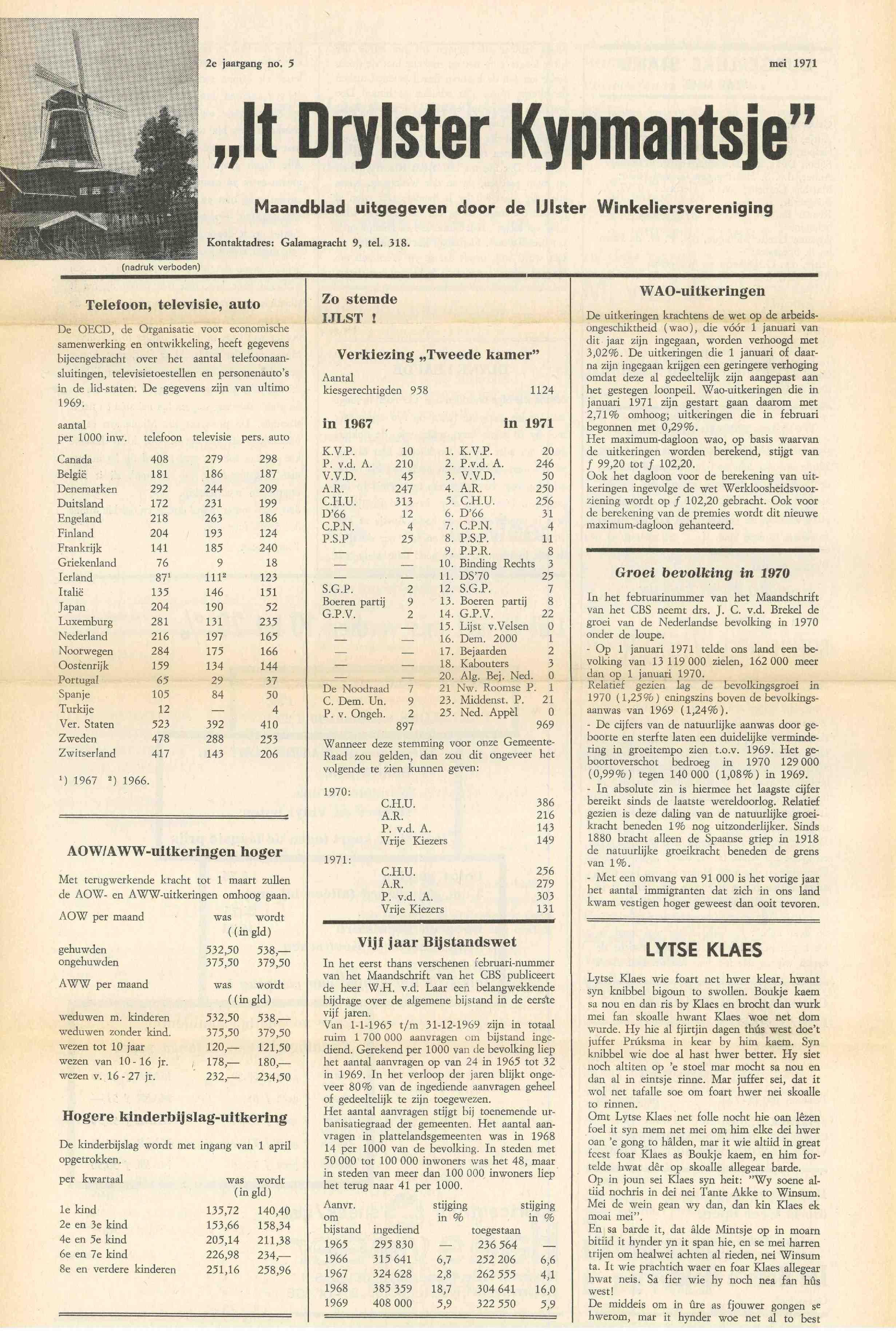 Cover editie mei 1971