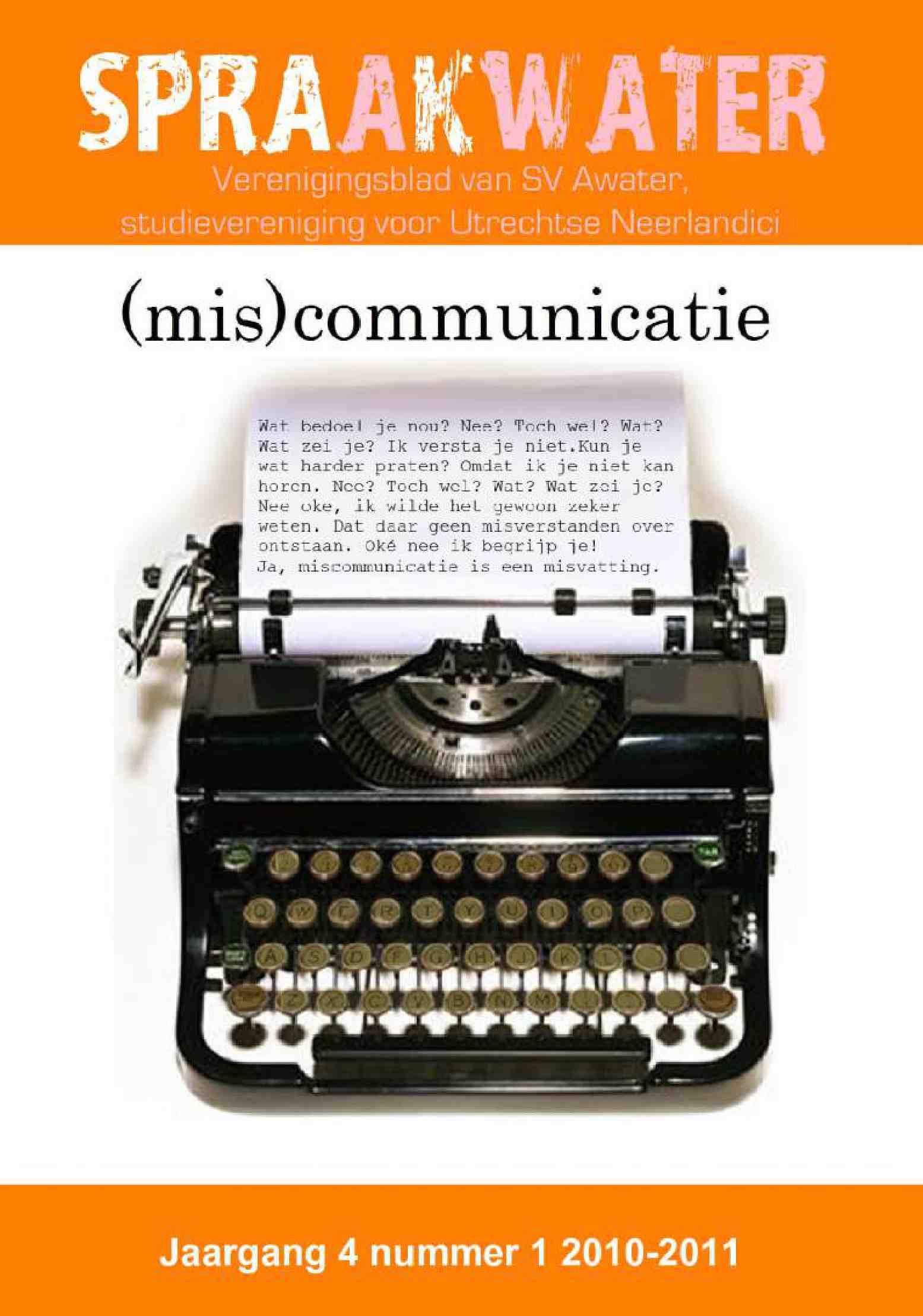 Cover editie november 2010