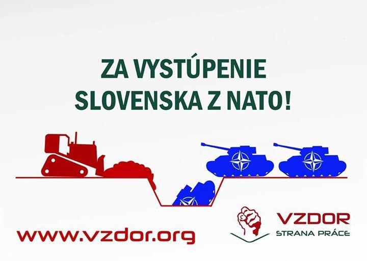 c3b5a0ff56308 Vzdor-strana práce k smutnému 15. výročiu vstupu Slovenska do NATO: Za  vystúpenie Slovenska zo zločineckej organizácie NATO! Postavme sa proti  iracionálnym ...