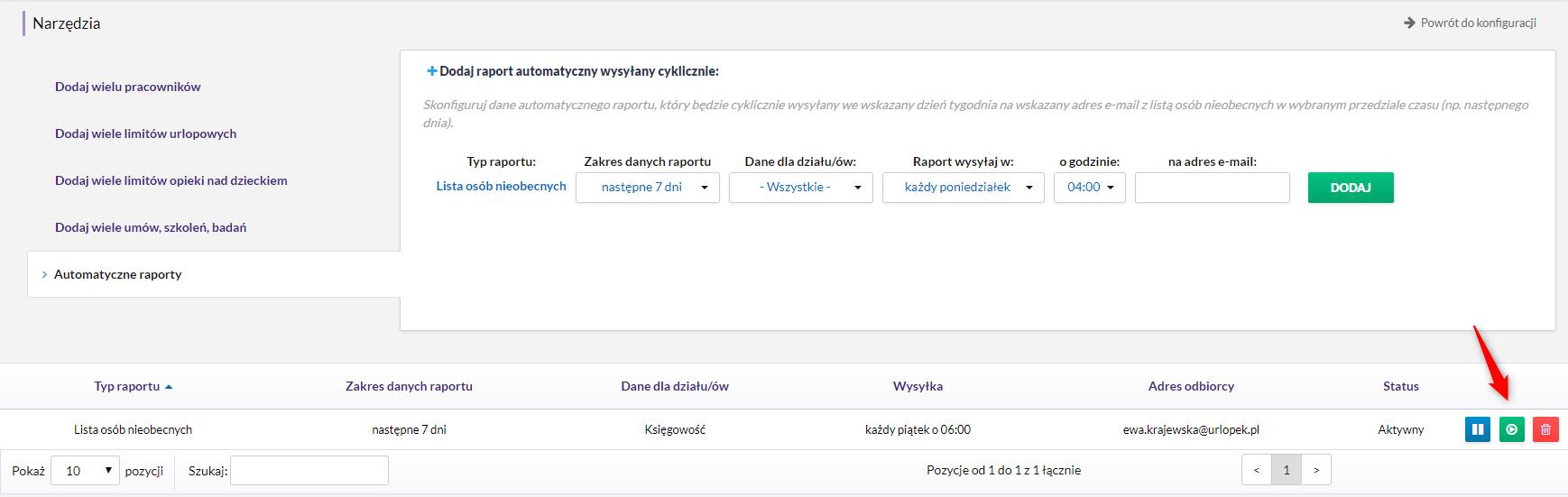 Zobacz, jak działa nowa funckaj systemu HRnest - cyklinie wysyłane automatyczne raporty o nieobecnych w firmie.