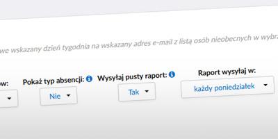 Parametry konfiguracyjne dla automatycznych raportów
