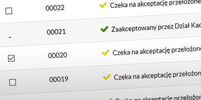 Akceptowanie kilku wniosków urlopowych jednocześnie w systemie Urlopek.pl