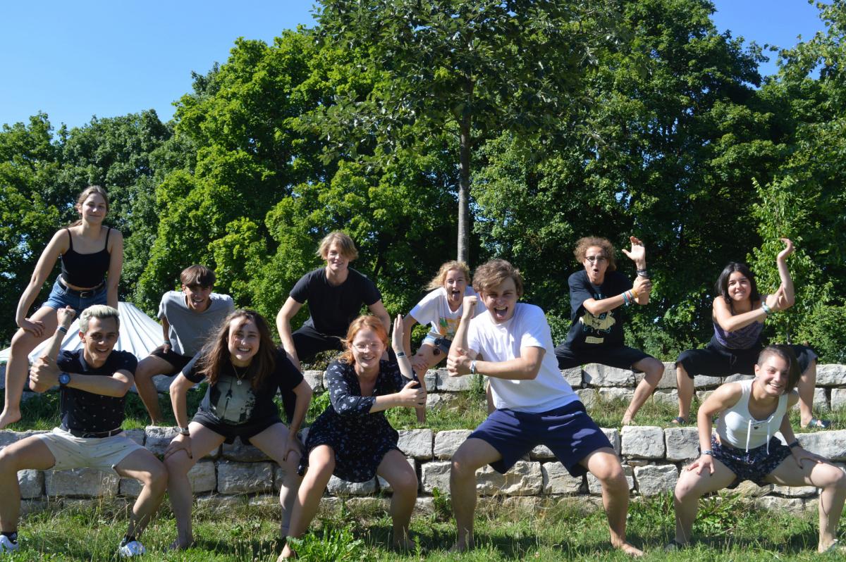 Die Foto-Reaktion der SchülerInnen des Dientzenhofer-Gymnasiums aus Bamberg auf ihre Auswahl für das SDL