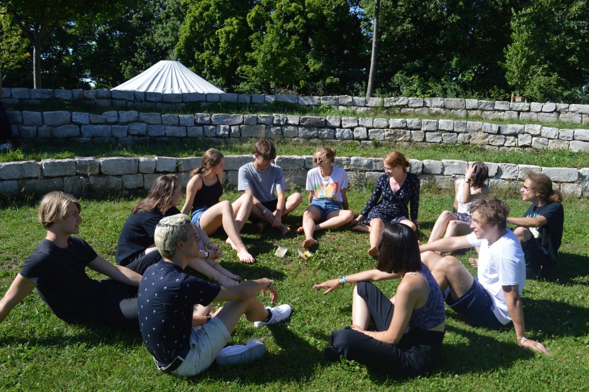 Vorbereitungen der SchülerInnen des Dientzenhofer-Gymnasiums aus Bamberg