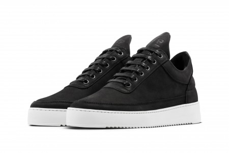 Low top fundament ripple matt nubuck black