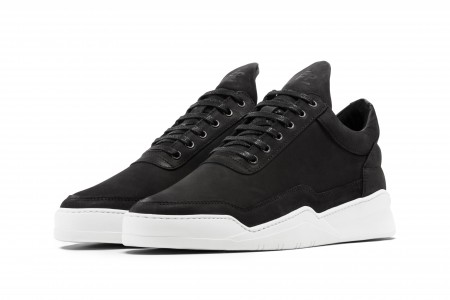 Low top ghost matt nubuck black