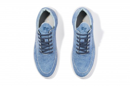 Low top astro mule blue