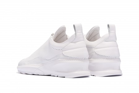 Steel runner zip white