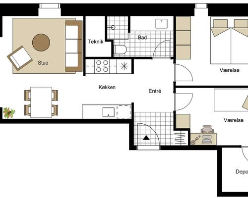 Ny 3-værelses lejlighed med altan - FLEKSIBEL INDFLYTNINGSDATO