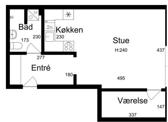 Nyrenoveret lejlighed midt i Aalborg C