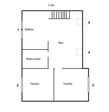 Nyrenoveret penthouse lejlighed