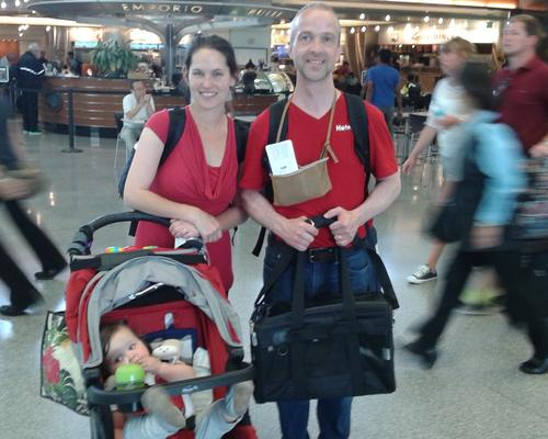 Expat couple from California + one child