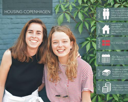 Two students looking for an apartment in or around Copenhagen