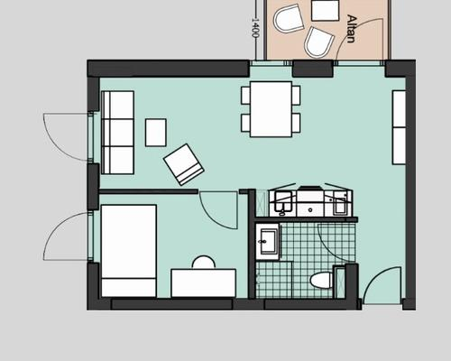 Two-rooms apartment ONLY FOR STUDENTS