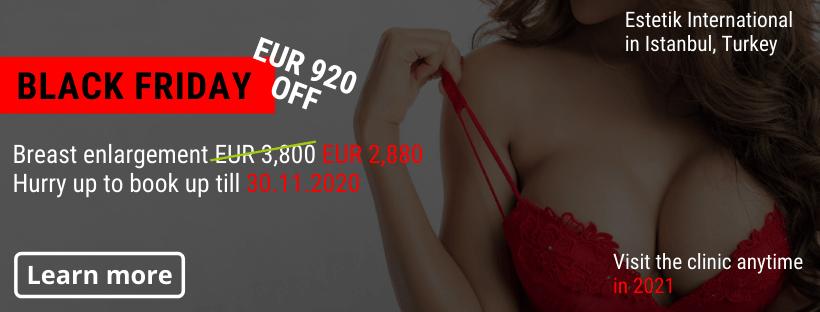 Breast enlargement Estetik Istanbul Black Friday offer