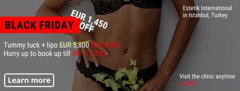 Tummy tuck Estetik Istanbul Black Friday offer