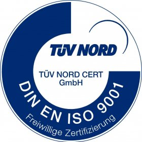 Certification according to DIN EN ISO 9001 by TÜV NORD CERT
